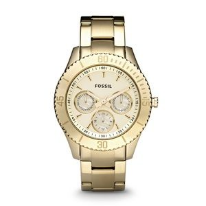 Fossil Stella Stainless Steel Gold Watch